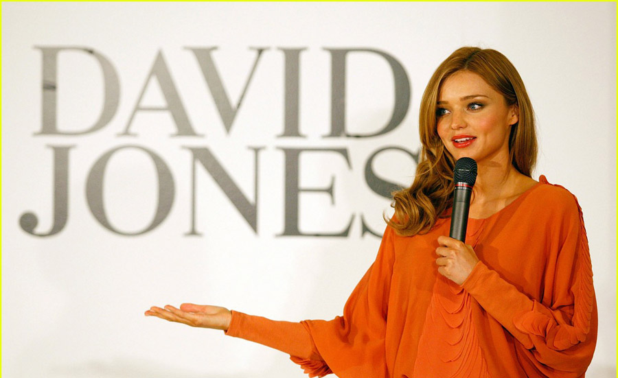 miranda kerr not able to use David Jones Website
