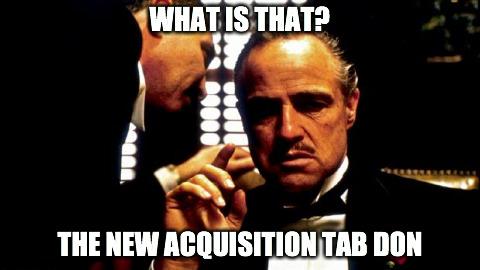 Aquistion Tab Google Analytics